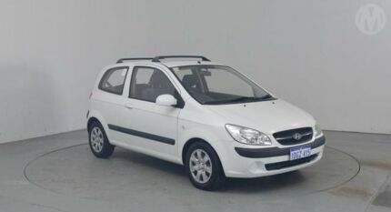 2008 Hyundai Getz TB Upgrade S Noble White 5 Speed Manual Hatchback Perth Airport Belmont Area Preview
