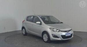 2012 Hyundai i20 PB MY12 Active Platinum Silver 4 Speed Automatic Hatchback Perth Airport Belmont Area Preview