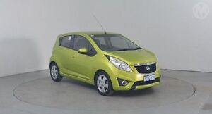 2010 Holden Barina Spark MJ CDX Green 5 Speed Manual Hatchback Perth Airport Belmont Area Preview