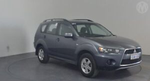 2012 Mitsubishi Outlander ZH MY12 LS Effect Grey 6 Speed Constant Variable Wagon Perth Airport Belmont Area Preview
