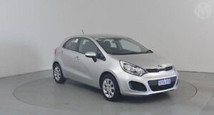 2013 Kia Rio UB MY13 S Bright Silver 6 Speed Manual Hatchback Perth Airport Belmont Area Preview