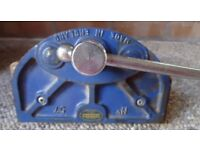 VINTAGE RECORD BLUE VICE/CLAMP.