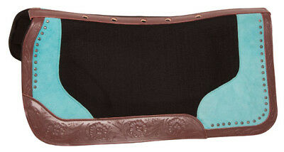 Bio Fit Western Saddle Blanket Pad Contour Wool Felt Shock Therapeutic Pad