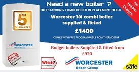 Boiler Replacement - Glasgow -Worcester Bosch 30I ( 5 year warranty ) £1400