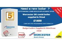 Boiler Replacement - Glasgow -Worcester Bosch 30I ( 5 year warranty ) £1400