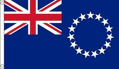 Cook Islands 3ft x 2ft Small Flag New Zealand Oceania Island - 2 Eyelets