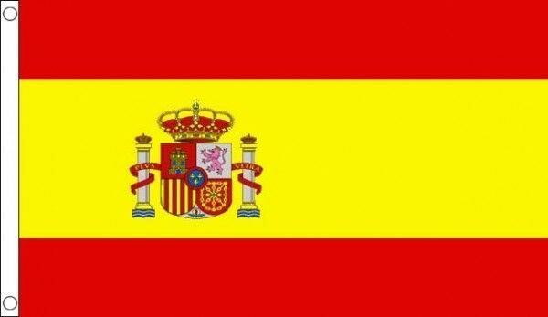 SPAIN STATE GIANT FLAG 8 X 5 FT NEW - EUROPE SPANISH CREST