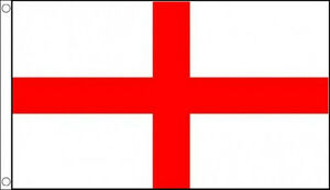 ST GEORGE CROSS FLAG 5' x 3' Saint Georges Day England English Flags