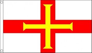 Guernsey Flag 5 x 3 FT - 100% Polyester With Eyelets - Commonwealth Games