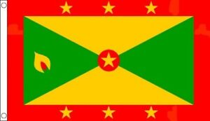 Grenada Flag 5 x 3 FT - 100% Polyester With Eyelets - Commonwealth Games