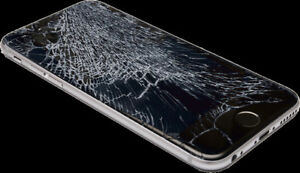 iPhone screen replacement, iPhone i6 $75, i6s $100, i7 $120.