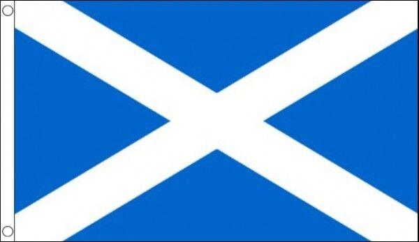 HUGE 8ft x 5ft St Andrew Flag National Sky Blue Andrews Cross Scotland Scottish