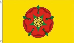 Lancashire Flag 5 x 3 FT - 100% Polyester With Eyelets - Flag - English County