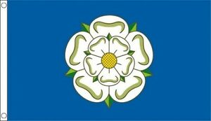 YORKSHIRE FLAG 3X2 3FT X 2FT WITH TWO METAL EYELETS YORK ROSE