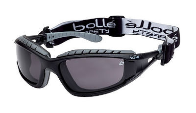 Bolle TRACKER II Safety Glasses Goggles Anti Mist Anti Scratch SMOKE TRACPSF