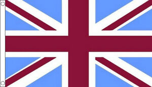 CLARET-MAROON-and-SKY-BLUE-UNION-JACK-FLAG-5-x-3-UJ