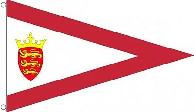 JERSEY PENNANT Shaped Flag Channel Islands Triangular Triangle Storm