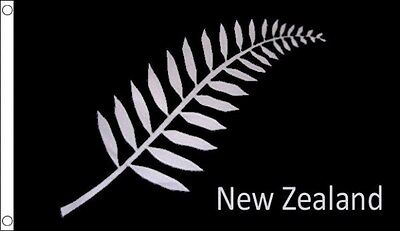 New Zealand Fern 5ft x 3ft Flag Kiwi All Blacks Rugby World Cup Flag