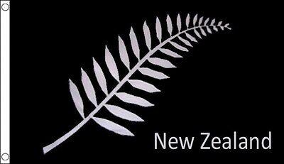 NEW ZEALAND FERN KIWI ALL BLACKS WOLRD CUP RUGBY FLAG 5FT X 3FT