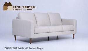 Beige Leather Mid Century Sofa Set on Sale (BD-2493)