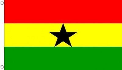 GHANA GHANAIAN FLAG 5FT X 3FT