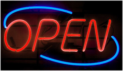 Neon Open Sign Light Bright Big Size Restaurant Store Business Liquor Commercial