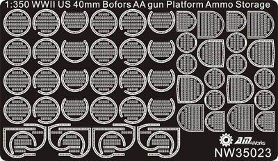 Alliance Model Works 1 350 Wwii Us 40Mm Bofors Platform   Ammo Detail  Nw35023