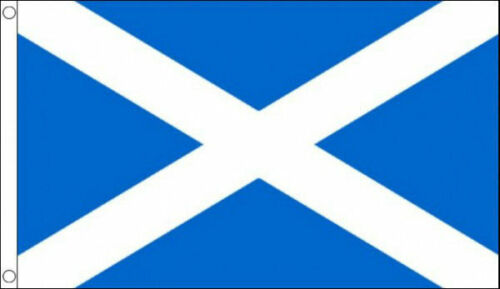 Scottish Flag 5ft x 3ft Light Blue Saltire St Andrew Scotland National Flags