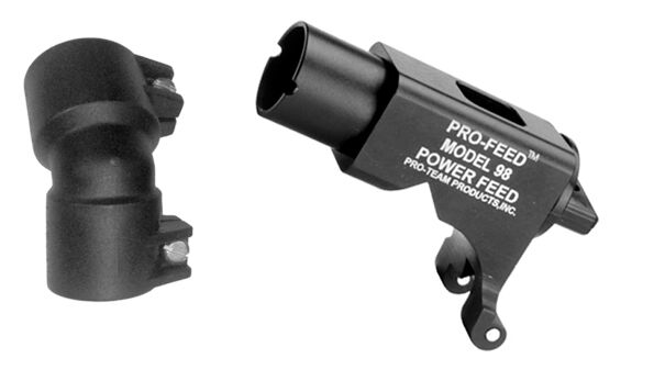 PTP Tippmann Model 98 Pro-Feed Power Feed Adapter with Pro-Feed Elbow