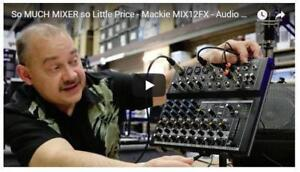 NEW - MACKIE Mix12FX Compact 12-Channel Audio Mixer with Effects ( Sound mixer )