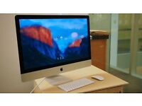 "Apple iMac 27"" Samsung Solid State SSD Lates El Capitan"