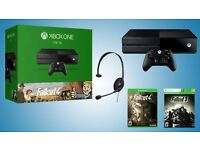 Xbox One 1TB brand new sealed console plus TWO GAMES Fallout 3 + 4 Bundle + Amazon Receipt
