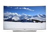 "LG 4K 55"" inch Curve smart TV Ultra HD and 3D 2160p"