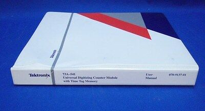 Tektronix 73a-541 Counter Module Tag Memory User Manual