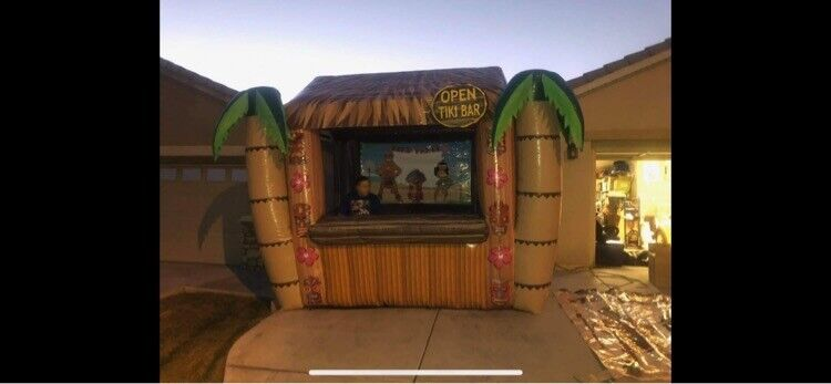 Huge Inflatable tiki bar - Great For Party Rentals, Farmers Markets Or Events.