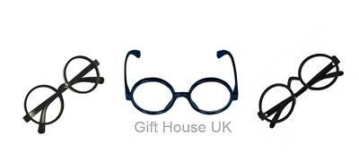 Harry Potter Schwarz Runde Brille Hogwarts Zauberer Geek Nerd-Kostüm Kostüm