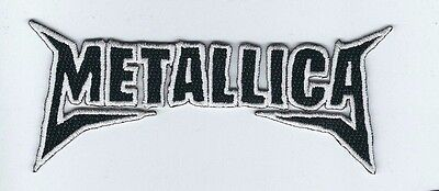METALLICA WHITE AND BLACK LOGO EMBROIDERED PATCH !