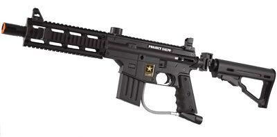 New Tippmann US Army Alpha Black Project Salvo Tactical Paintball Gun Marker