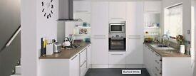 Howden's Burford Gloss White shaker style kitchen