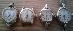Vintage ladies solar watches