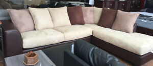 Floor model 2 pc sectional for $898 only YEAR END CLEARANCE SALE