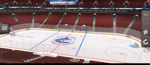 Canucks - 2 Seats in Row 1, Section 306 (2017-18)
