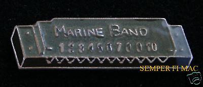 US MARINE BAND HOHNER HARMONICA PIN TIE TAC Bob Dylan, John Lennon, Bruce Spring Us Marine Band