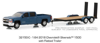 Hitch and Tow Series 15 2018 silverado and flatbed trailer