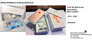 APPLE IPHONE 6S 16 GOLD/SILVER/SPACE GRAY look like brand new un