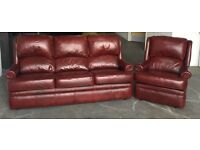 Oxblood Red Leather Chesterfield Style Sofa Set.WE DELIVER