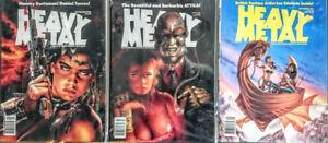 HEAVY METAL Magazine 1990's Singles - 3 Issues