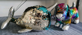 Sequin narwhal & Sausage dog toys