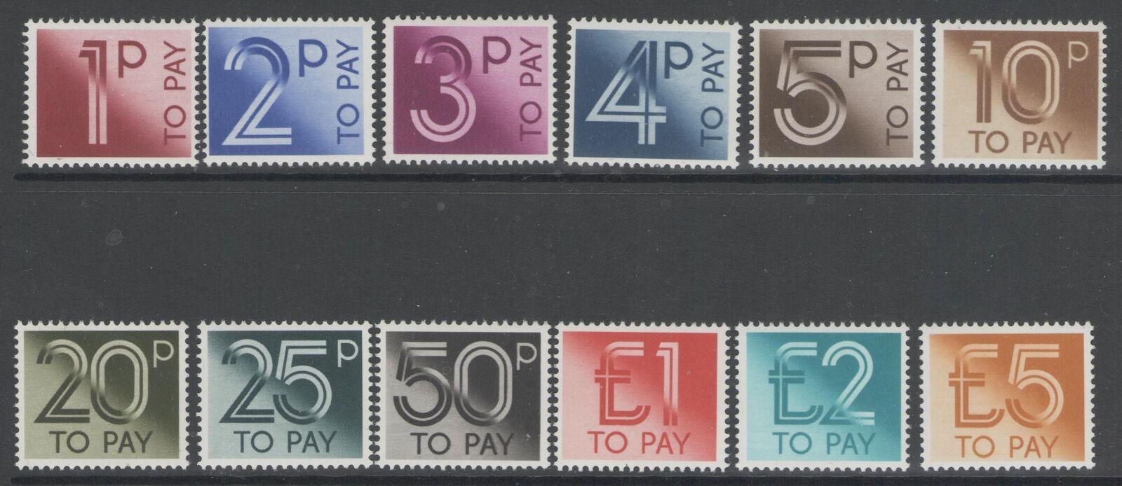 GB SGD90/101 1982 POSTAGE DUE SET MNH