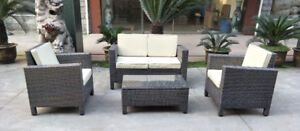 NEW 4 PCS OUTDOOR FURNITURE SET PATIO FURNITURE SET NOW $599.95